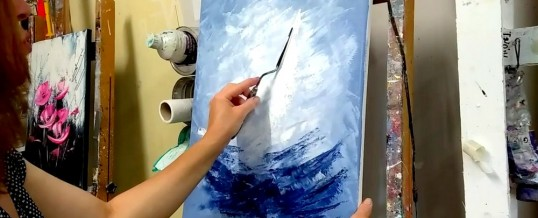 Peinture au couteau, quelques procédés à maîtriser